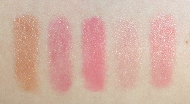 tarte holiday 2012 5-Piece LipSurgence Collector's Set swatches