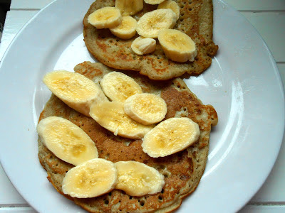 Buckwheat Pancakes LOW GI Banana Copyright Kelly Martin 2013