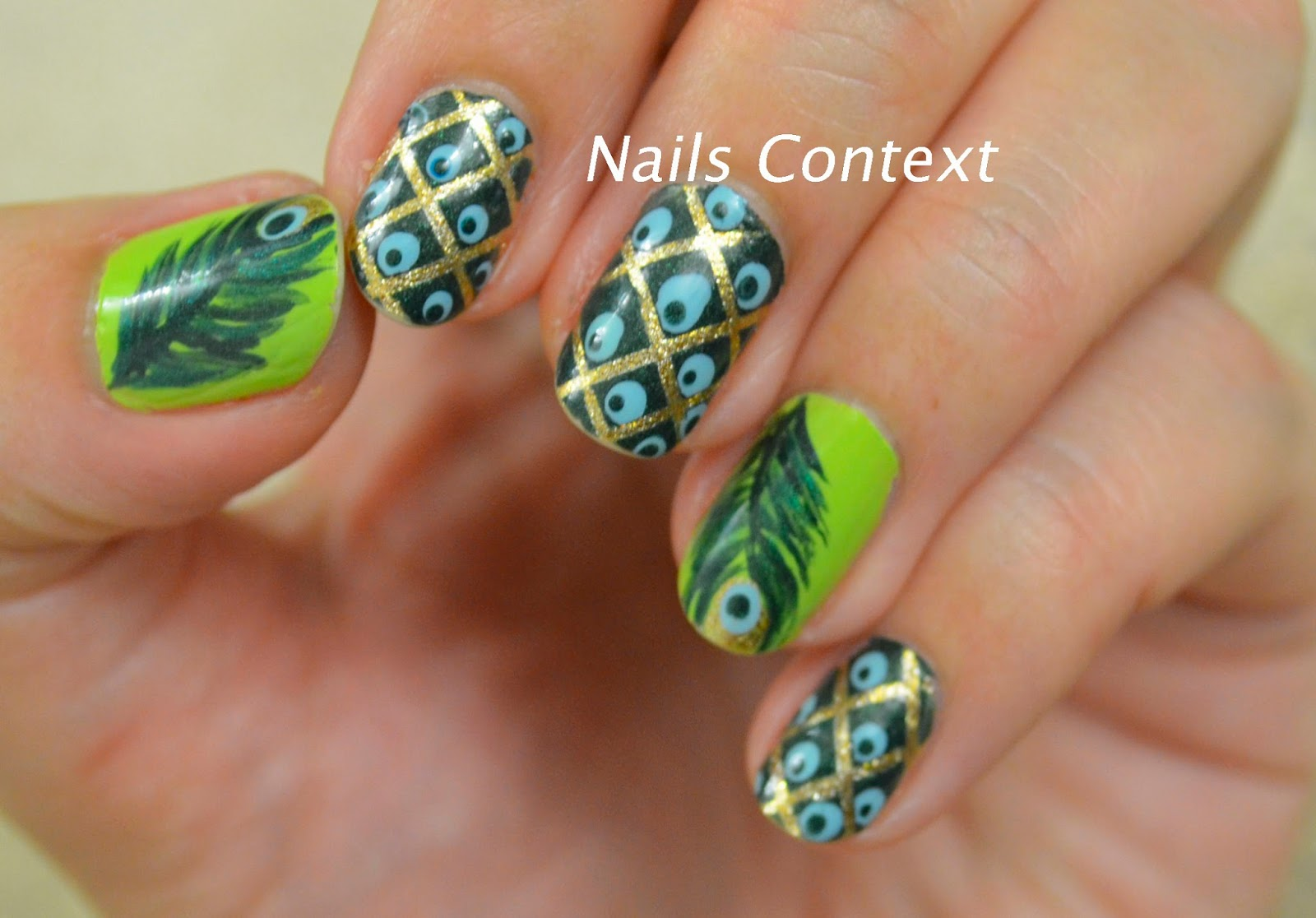 Nails Context: Peacock Nails