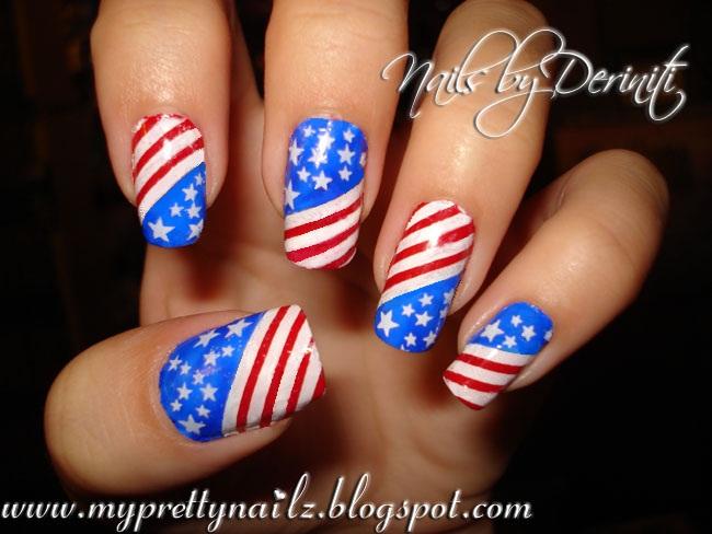 My Pretty Nailz Freedom Nails 911 Nail Art September 11 Nail