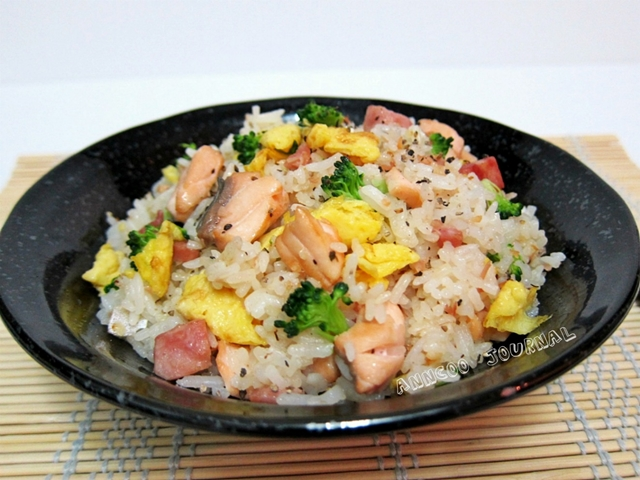 Salmon fried rice anncoo journal serve salmon fried rice with a dash of black pepper on it ccuart Image collections