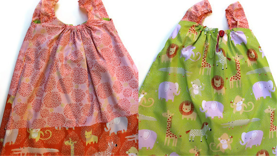Reversible jungle dress tutorial