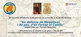 """CONFE """"EN DEFENSA DE MAQUIAVEL (I DE PAS, DE FERRAN II)"""