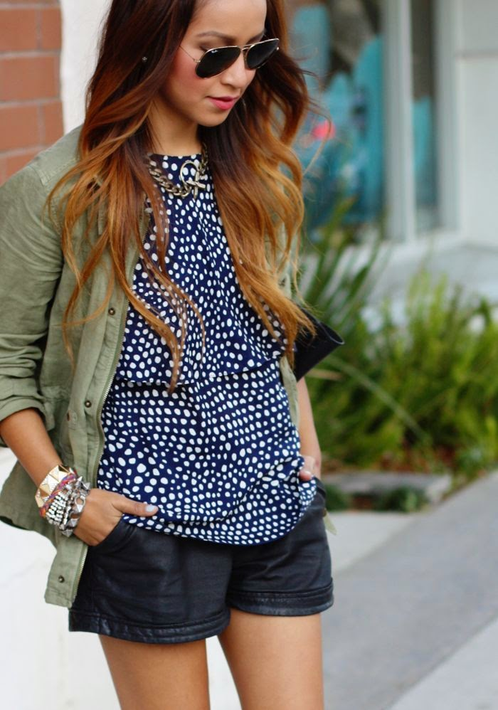 shorts-camisas femininas-short jeans-camisa feminina-camisa poá-camisa de bolinhas-moda feminina-roupas da moda