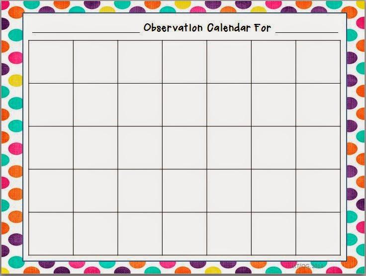 Xs Calendar May : Fresh ideas for summer writing using an observation