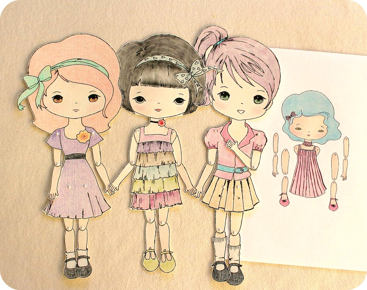 Adorable image regarding paper doll printable
