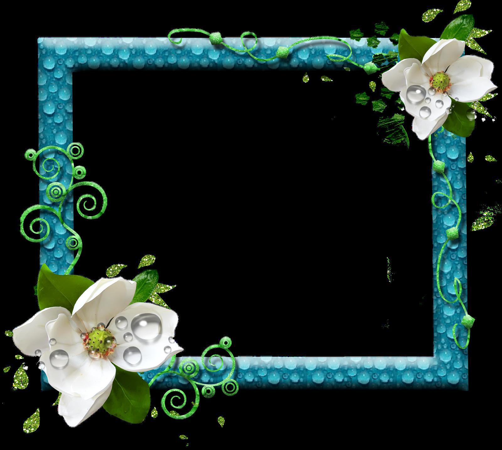 Marcos florales para fotos formato png gratis - Marcos de fotos pared ...