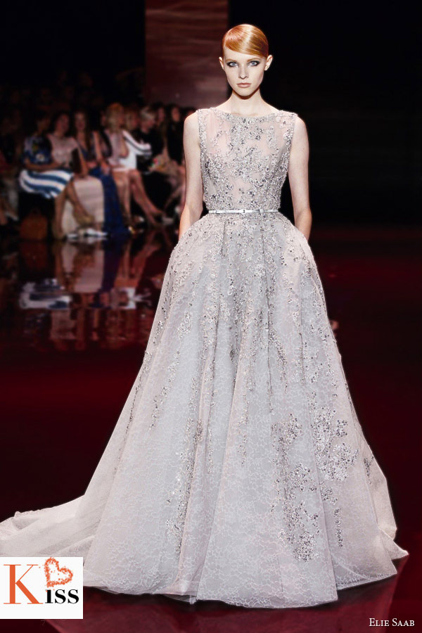 Champange Elie Saab Fall/Winter 2013-2014 Couture