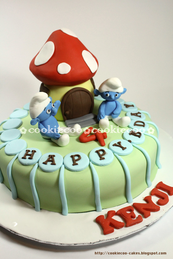Cookiecoo Smurf Cake For My Sons 4th Birthday