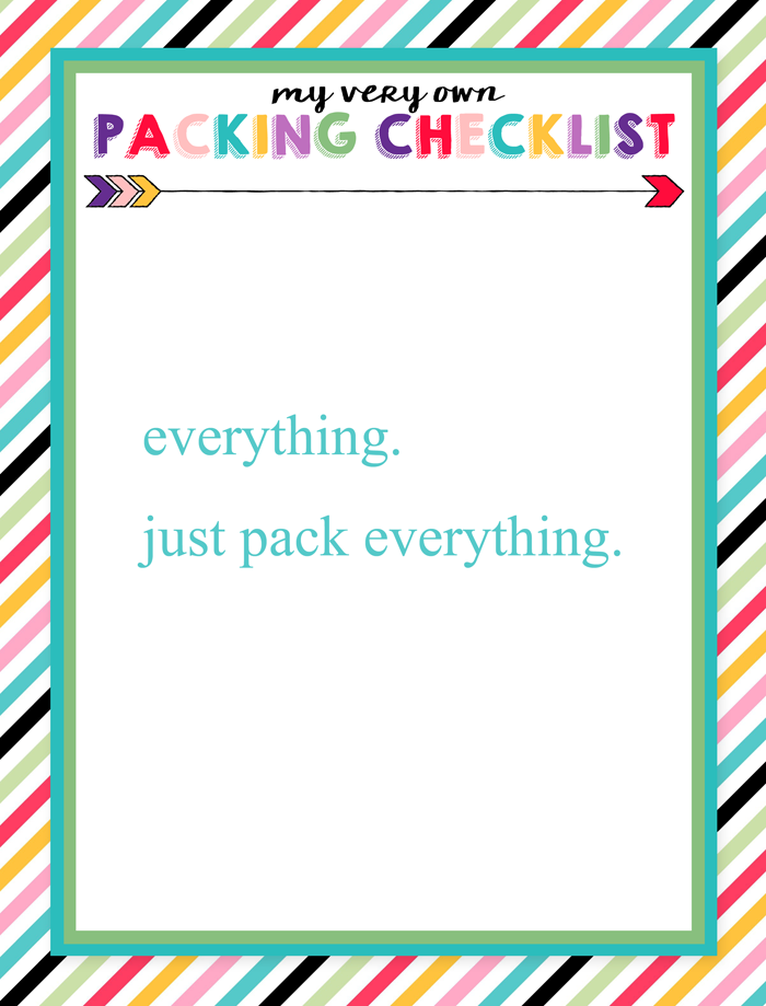 Free Printable Children's Packing Lists   Six designs: three for boys, three for girls   Help kiddos learn to pack!