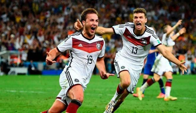 Kalahkan Argentina, Jerman Juara Piala Dunia 2014