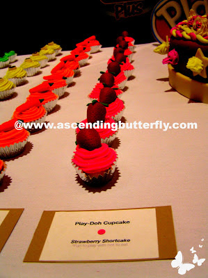 Strawberry Shortcake Play-Doh Cupcakes Table Display at Hasbro Toy Fair 2013 Event in New York City