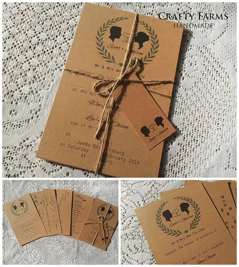 Wedding Card Malaysia | Crafty Farms Handmade : Rustic Garden Themed ...