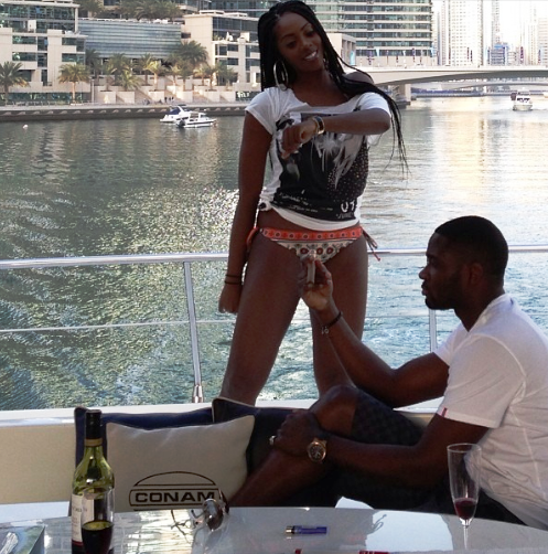 Teebillz shares sexy picture of sexy wife Tiwa savage