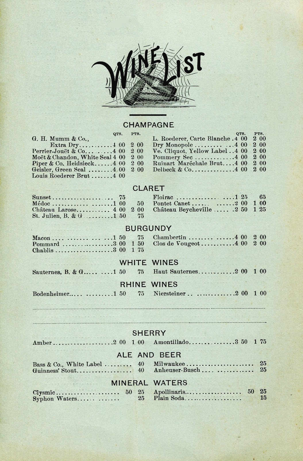 The Hudson Room Menu