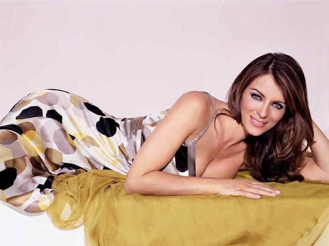 Elizabeth Hurley sexy in Dress faction