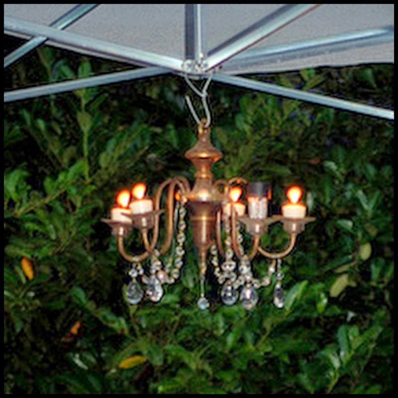 dollar store crafter candles or solar lights outdoor chandelier