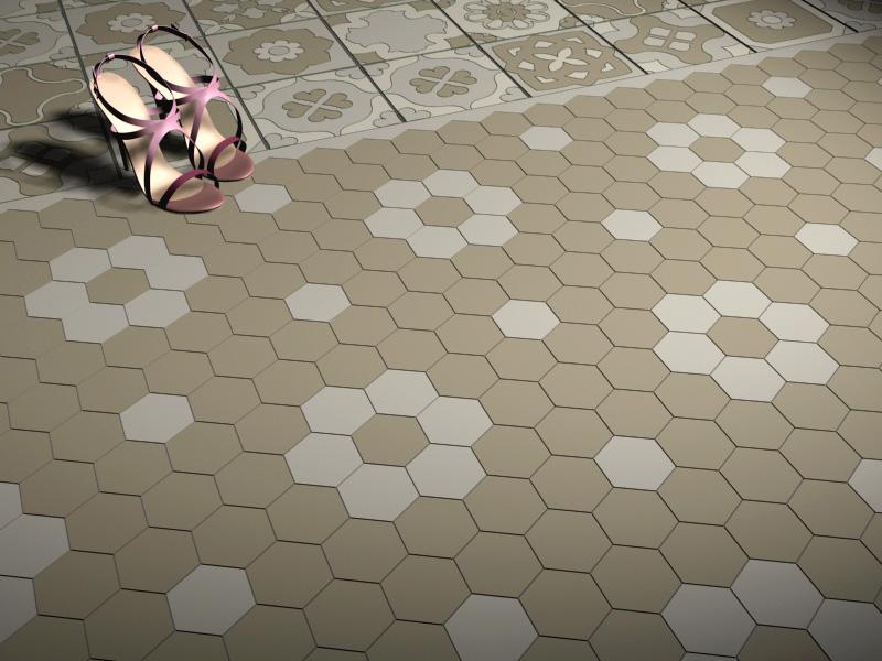Decomondo patchwork di piastrelle - Piastrelle da incollare su pavimento esistente ...
