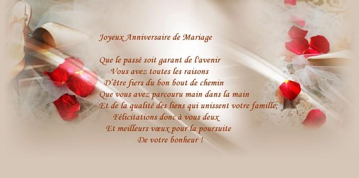 Invitation anniversaire de mariage texte gratuit