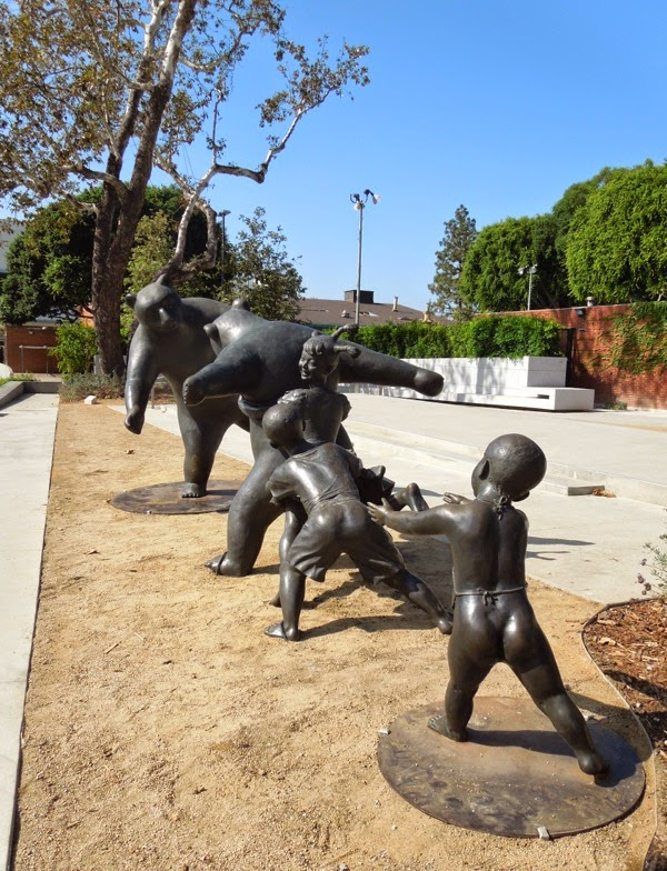 The Game sculpture West Hollywood Park