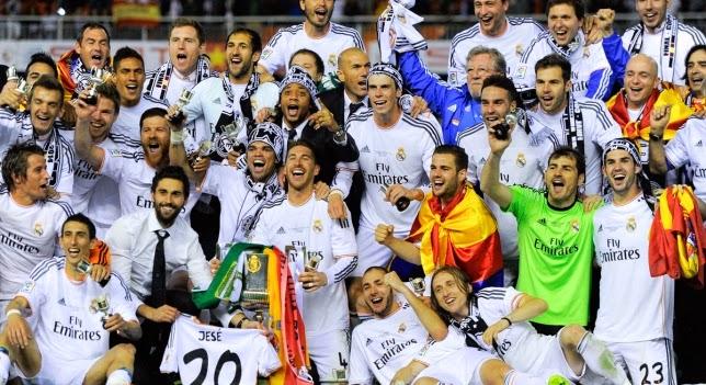 El Real Madrid celebra la Copa del Rey