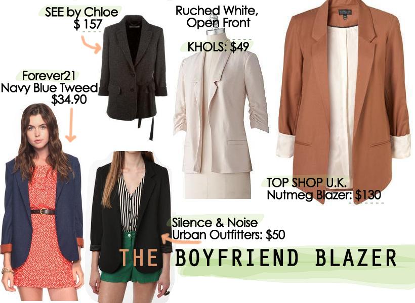 Grace Like Rain Fall Fashion Trends Boyfriend Blazer