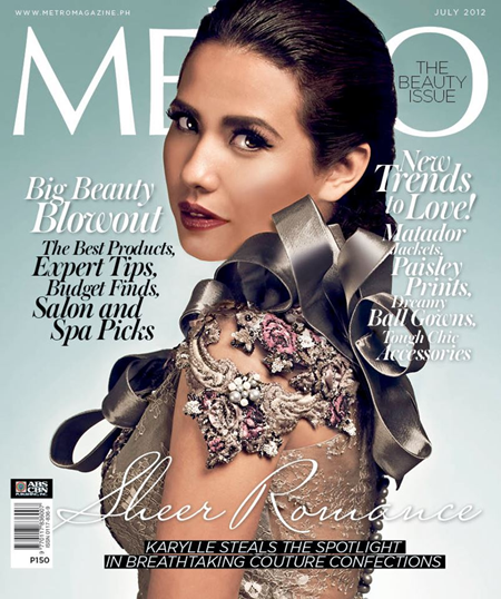 Karylle Covers Metro Magazine July 2012