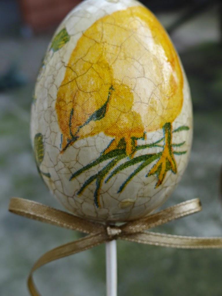 pisanki decoupage, dekoracje wielkanocne