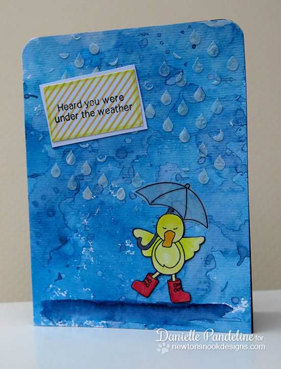 Get well duck card by Danielle Pandeline for Newton's Nook Designs!