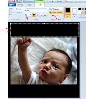 place text in your images using paint