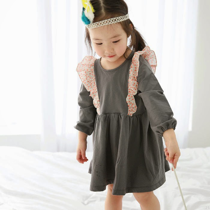 Bebe Bruni Frill Dress - Jujubunnyshop spring 2014 kids fashion collection