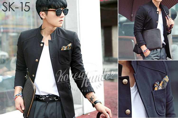 KOREA-HUNTER.com jual murah Black Blazer Jacket | kaos crows zero tfoa | kemeja national geographic | tas denim korean style blazer