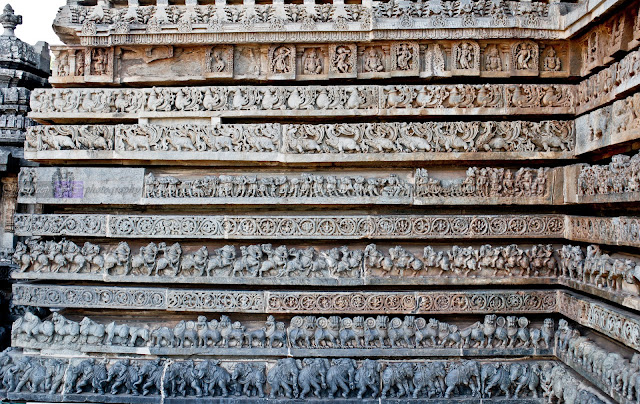 Here you can see most of the friezes have been damaged over time.