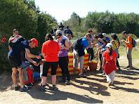 El tercer avituallament de la caminada 2013