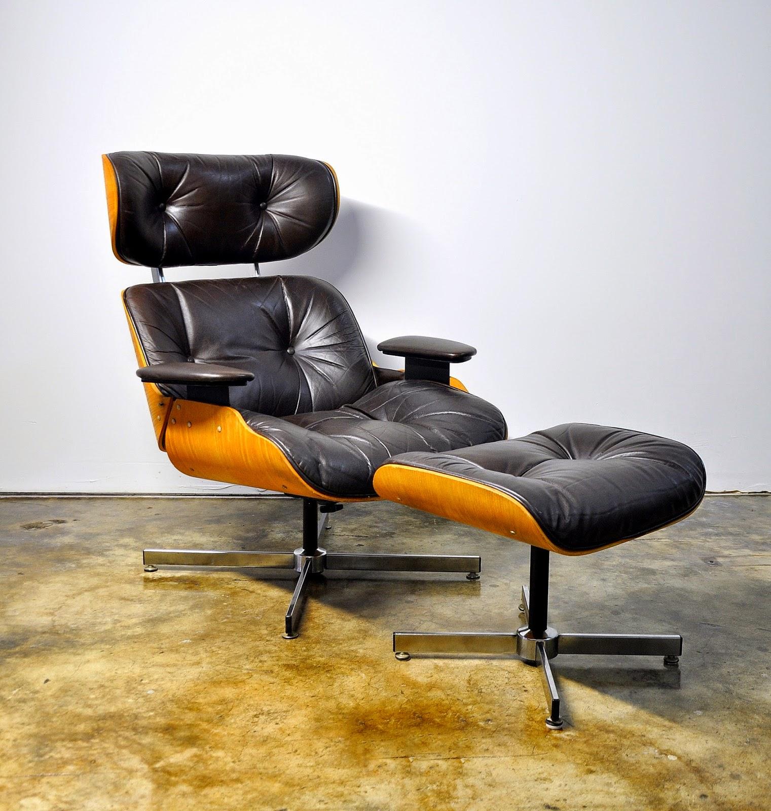 eames leather lounge chair u0026 ottoman - Eames Lounge Chair And Ottoman