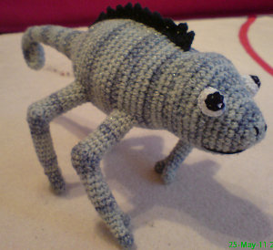 Crochet Chameleons : 2000 Free Amigurumi Patterns: Crocheted chameleon: free pattern
