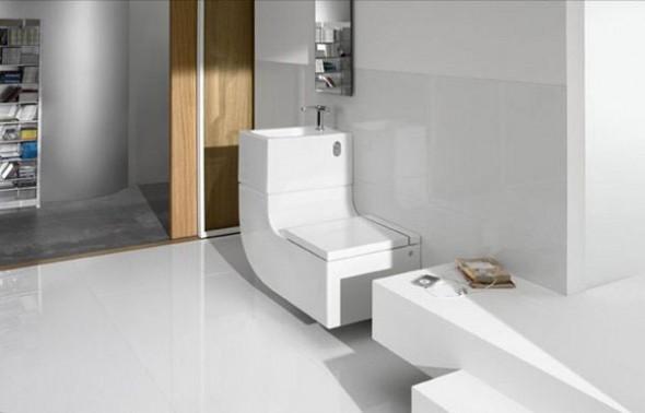 Moderno lavabo e inodoro con estilo contempor neo for Estilo moderno contemporaneo