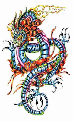 Design Tattoo Naga Berwarna