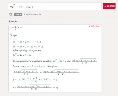 2x^2-3x+2=1 steps