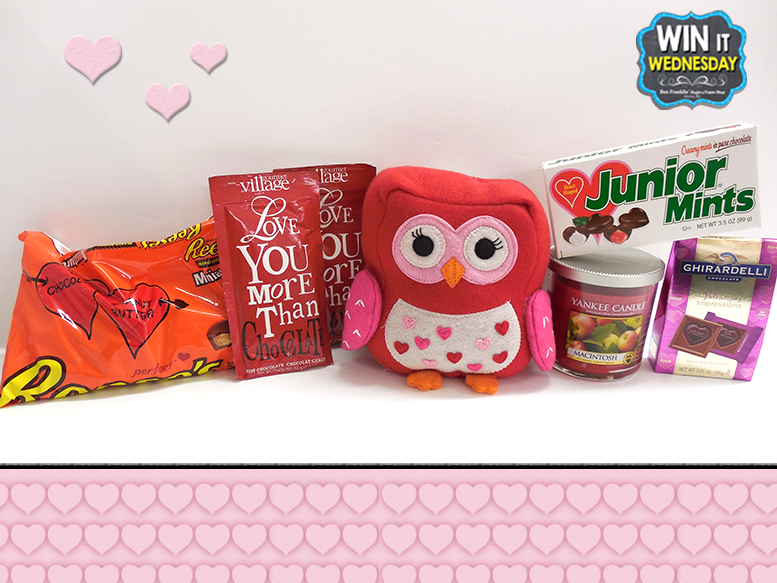 Includes chocolate, owl plush, Yankee Tumbler Candle, Hot Cocoa and more!