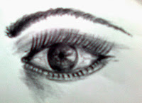 Drawing of an eye by Rahul