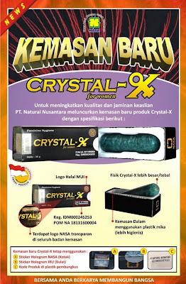 Crystal X Asli,Manfaat Crystal X,Harga Crystal X