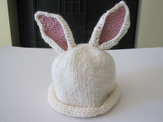 easy rabbit hat pattern knit