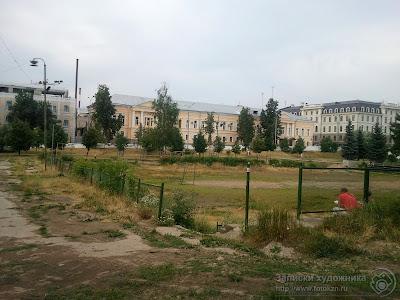 Казанский парк Черное озеро, спортивная площадка