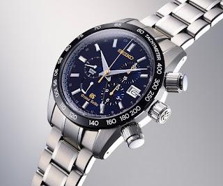Montre Grand Seiko 55ème anniversaire Spring Drive Chronographe GMT référence SBGC013