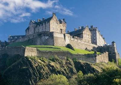 The immense Edinburgh Castle dominates the Scottish skyline as one of the most haunted structures in Europe