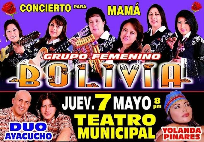 Grupo femenino Bolivia y otros artistas por el día de mamá - 07 de mayo