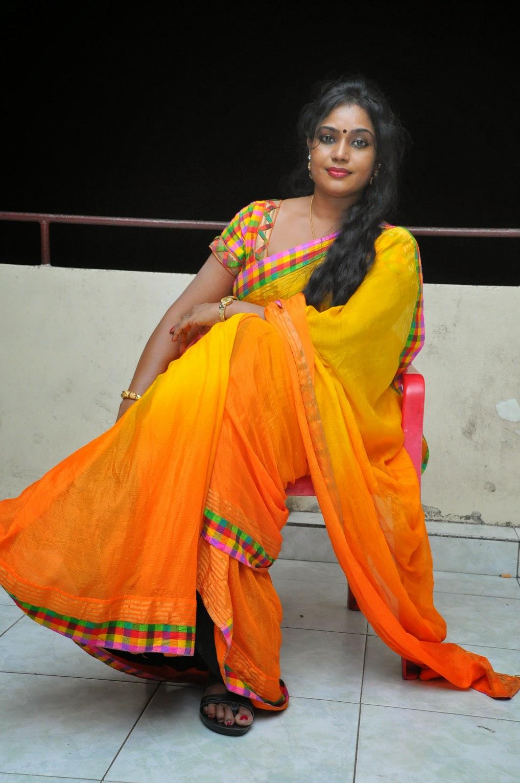 Jayavani glam pics in saree-HQ-Photo-2