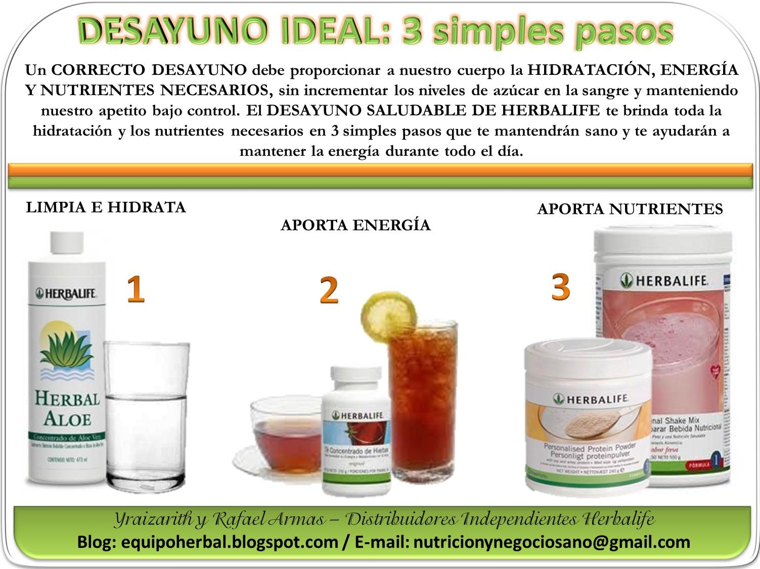 Equipo Herbal Herbalife Distribuidor Independiente