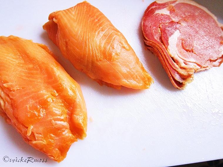 Wickermoss review eats salmoncetta ala mekhala canap a for Honey smoked fish